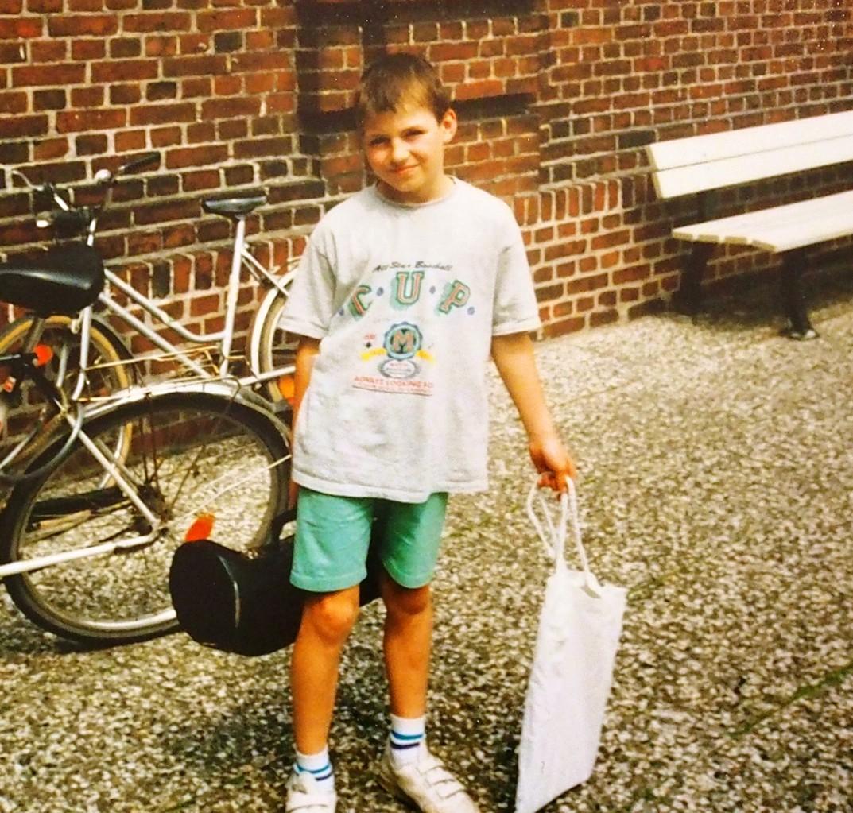 Vor der Pauluskirche, Ende der Probe, ich zehn Jahre alt