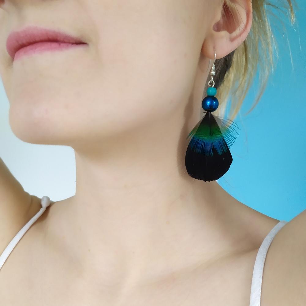 Boucles d'oreilles de connexion avec le monde chamanique