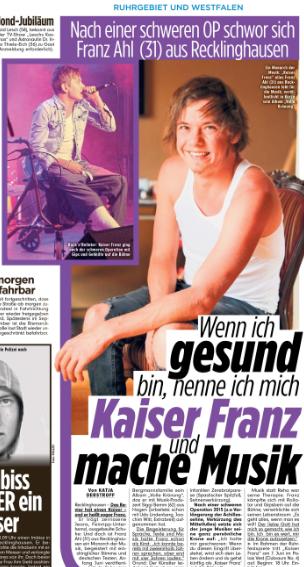 Bild Zeitung (Ruhrgebiet) 09.05.2019 cKatja Derstroff Foto: Stefano Laura, privat