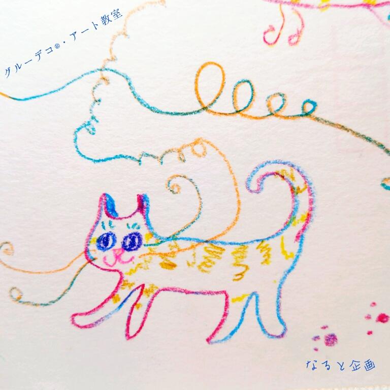 色鉛筆 ねこ描いてみた