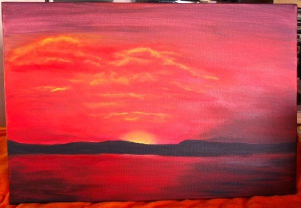 'Sonnenuntergang' 80 x 60 cm Acryl