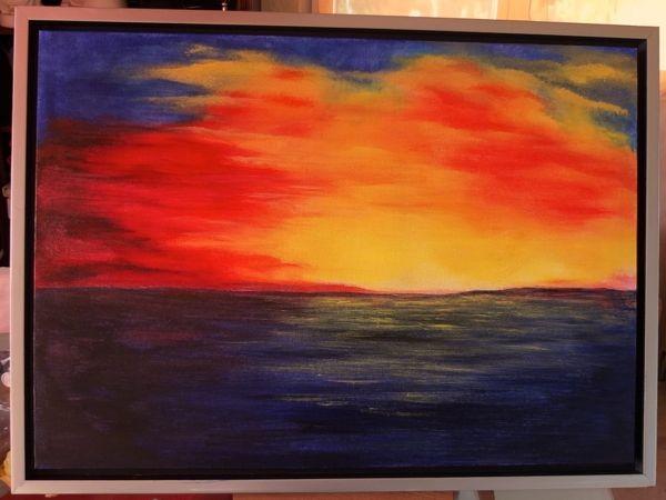'Sonnenuntergang' -verschenkt- 80 x 60 cm Acryl