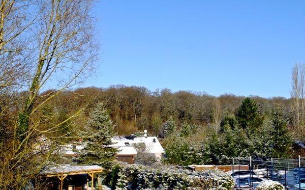 schöner blauer Himmel, aber seeeeeehr kalt...