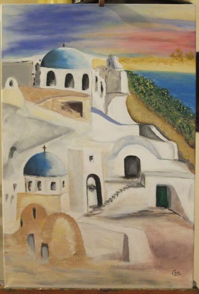 'Griechenland' -verschenkt- 60 x 80 cm Öl