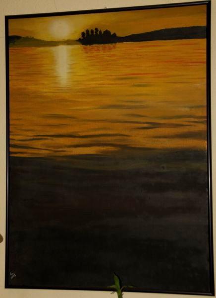 'Sonnenuntergang' 60 x 80 cm Öl