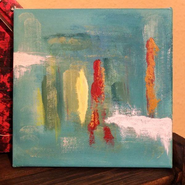 'Lichtblick'  -verschenkt- 20 x 20 cm  Acryl