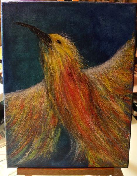'Kolibri'  -verschenkt- 30 x 40 cm Acryl