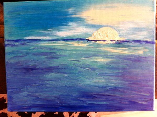 'Sonnenaufgang' -verschenkt- 40 x 30 cm Acryl