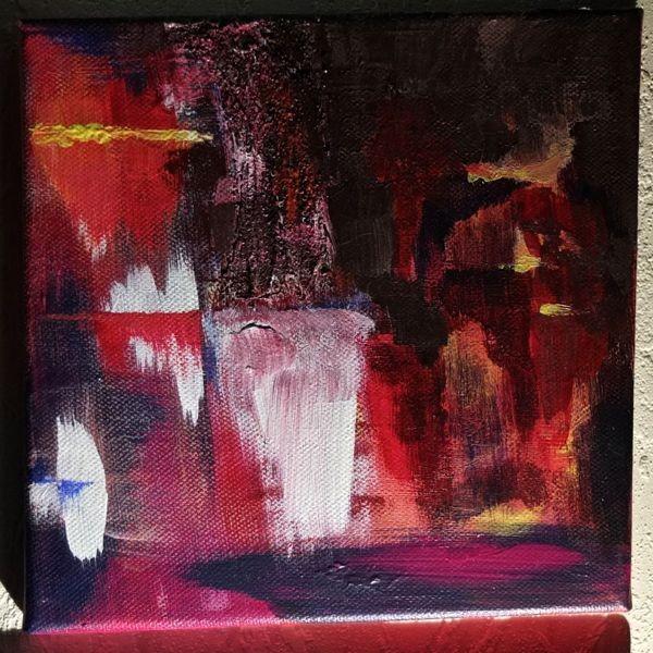 'Wasserfall' -verschenkt- 20 x 20 cm Acryl