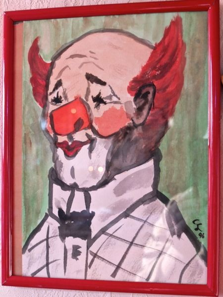 'Clown' 24 x 18 cm Aquarell