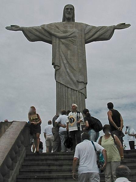 in Rio - da sehe ich ganz schön klein aus