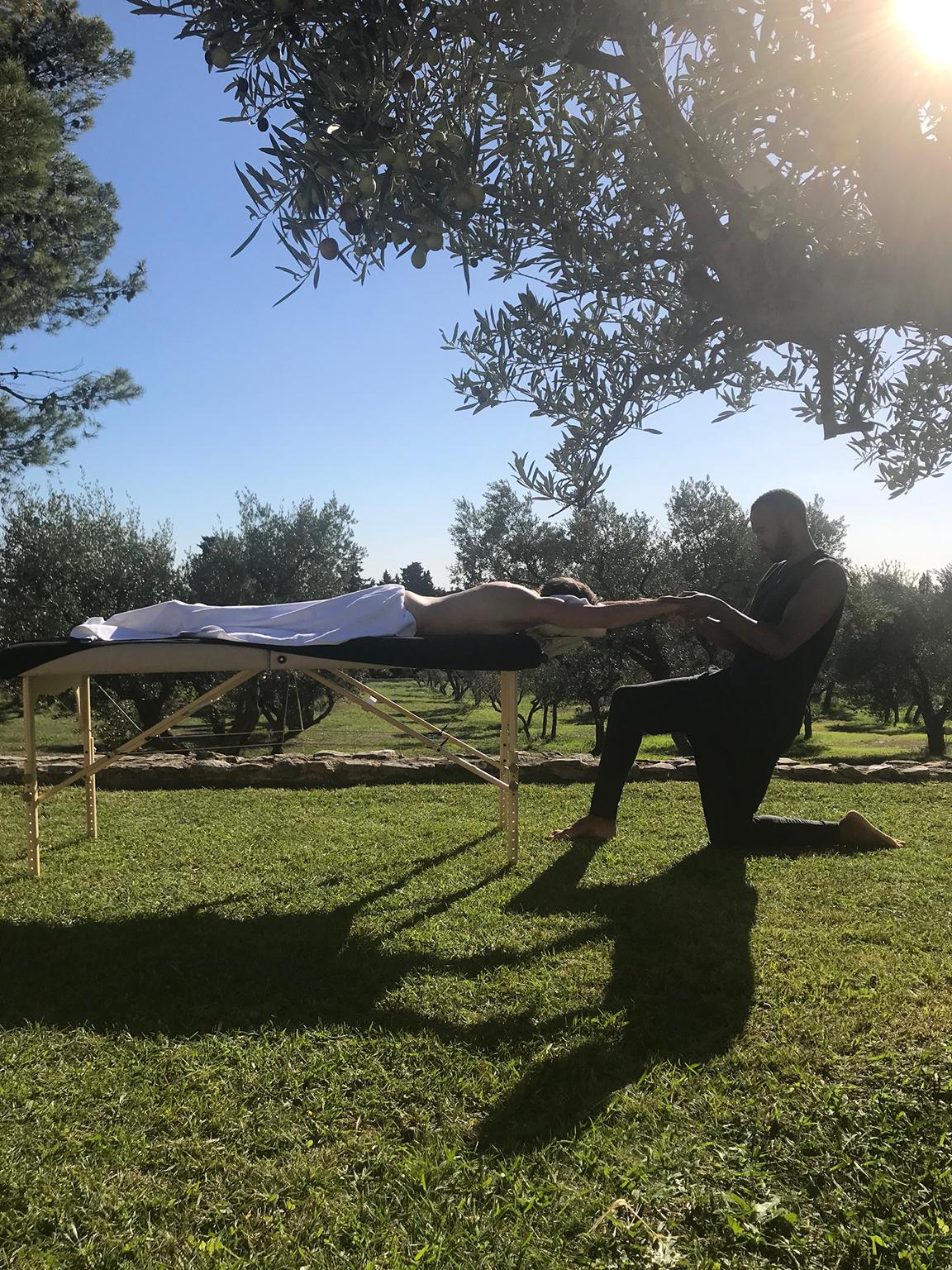 Massage au grand air avec Jimmy Jarnet