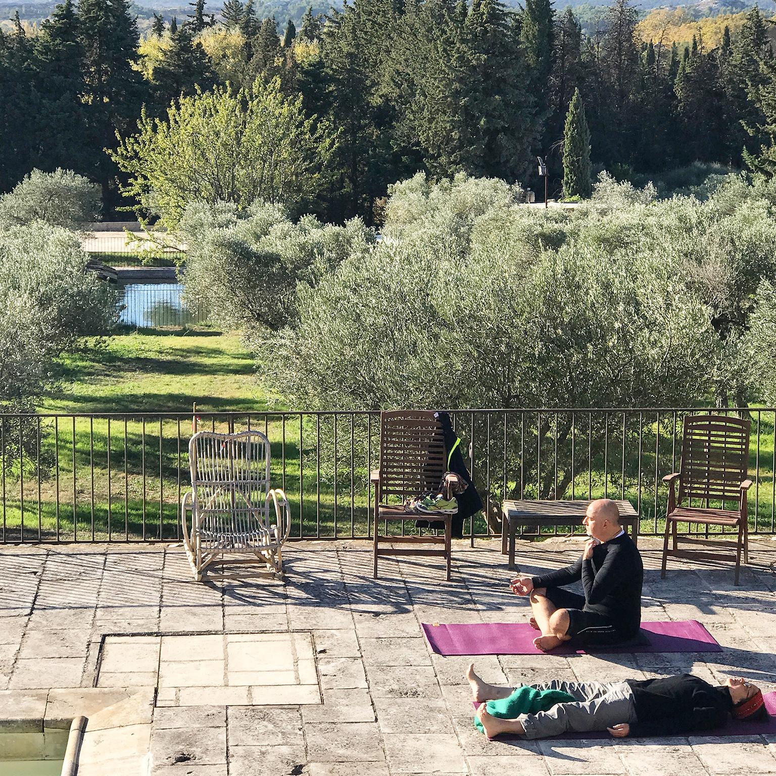 Séance de yoga au grand air avec Sibylle Grandchamp