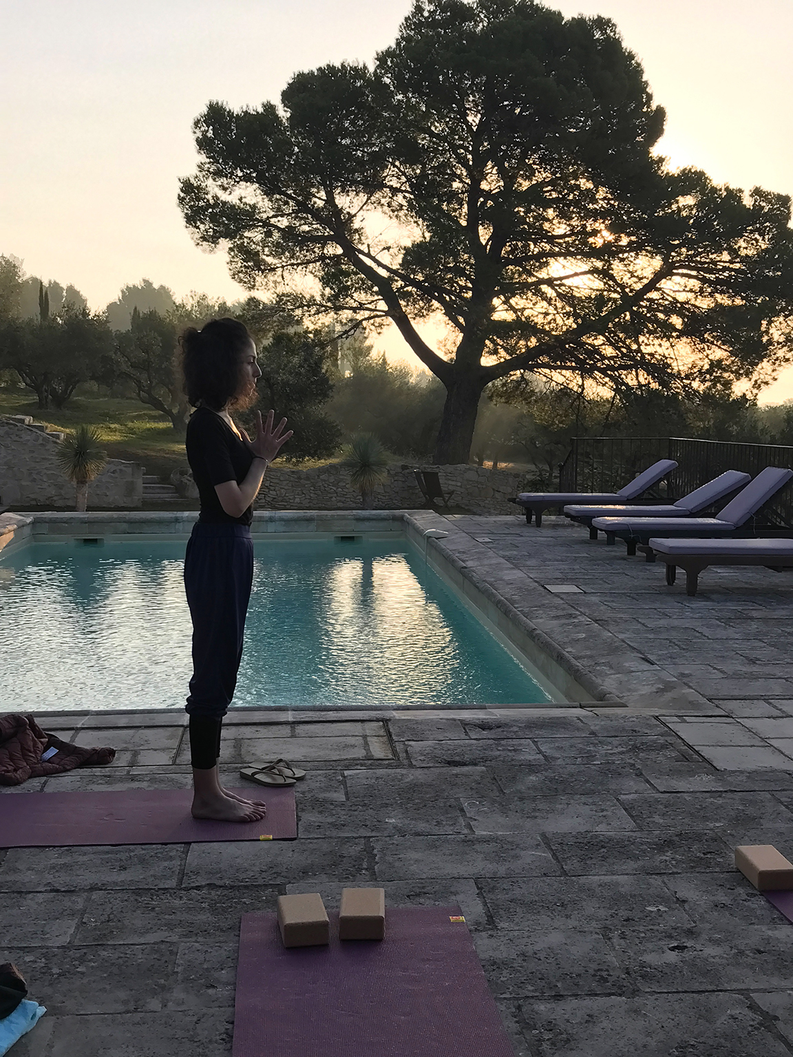 Séance de yoga au grand air avec Tatiana Burstein