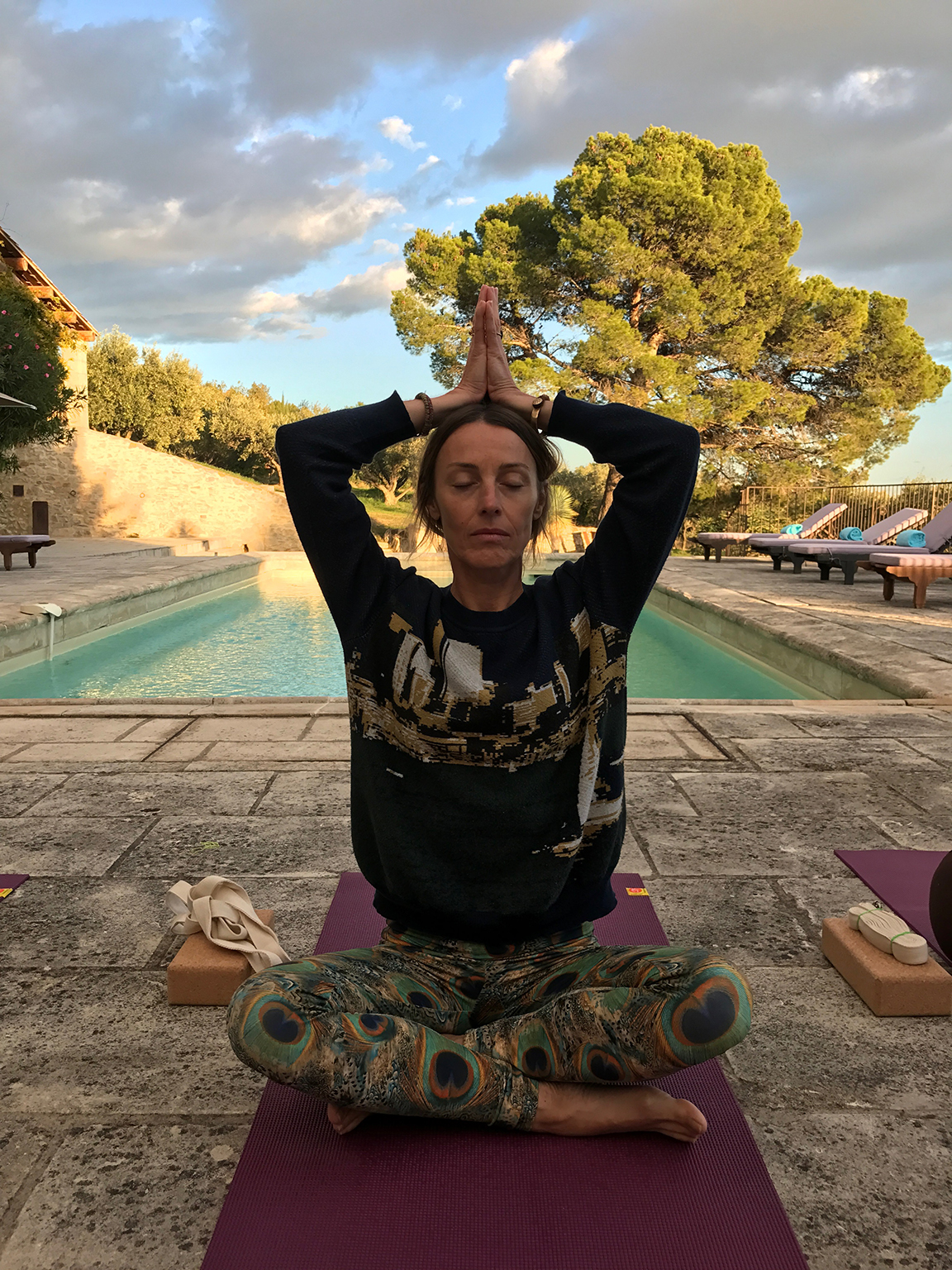 Séance de yoga au grand air avec Sibylle Grandchamp