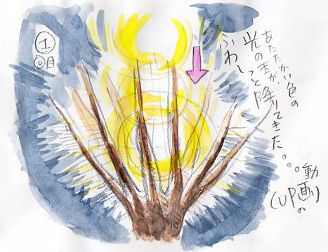 夢スケッチ:木に光が降りて来た♪
