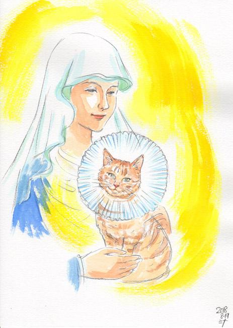 霊視結果イラスト:天国に行ったペットさんが見せてくれた今の姿