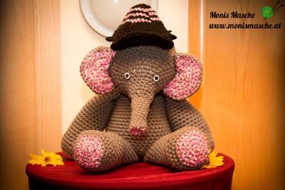 Elefant gehäkelt Kleinkindgröße