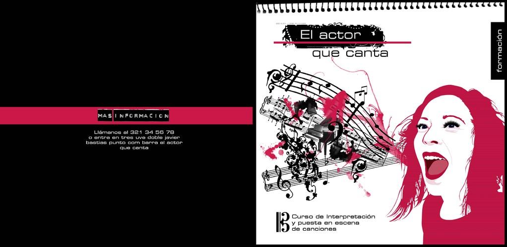 """Publicidad de """"Interpretar Cantando junto a Javier Bastias y Oscar Gil. Madrid 2008"""
