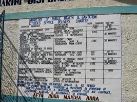 Preisliste und Angebot an der Hospitalwand