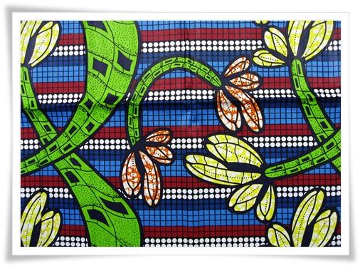 Wax Print Stoffe mit bunten Farben und einzigartigen Mustern