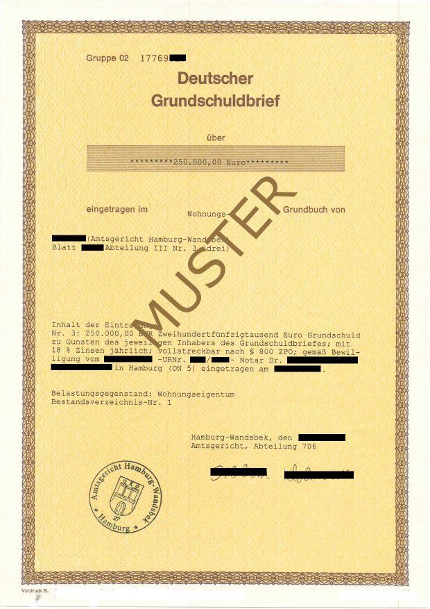 Inhabergrundschuldbrief
