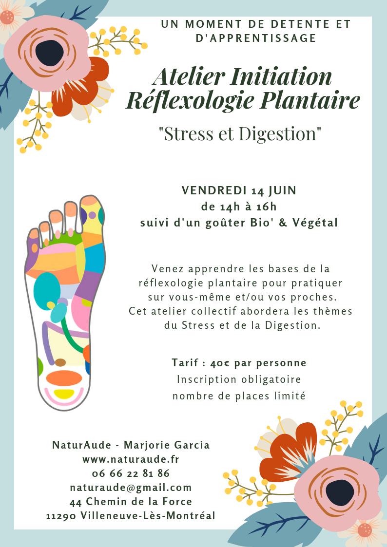 Atelier formation initiation naturopathie reflexologie kinesiologie carcassonne castelnaudary limoux