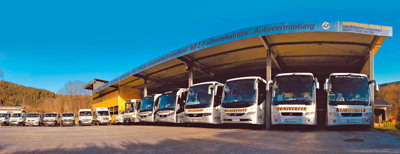 Busflotte Reinsberger Reisen Gurktal