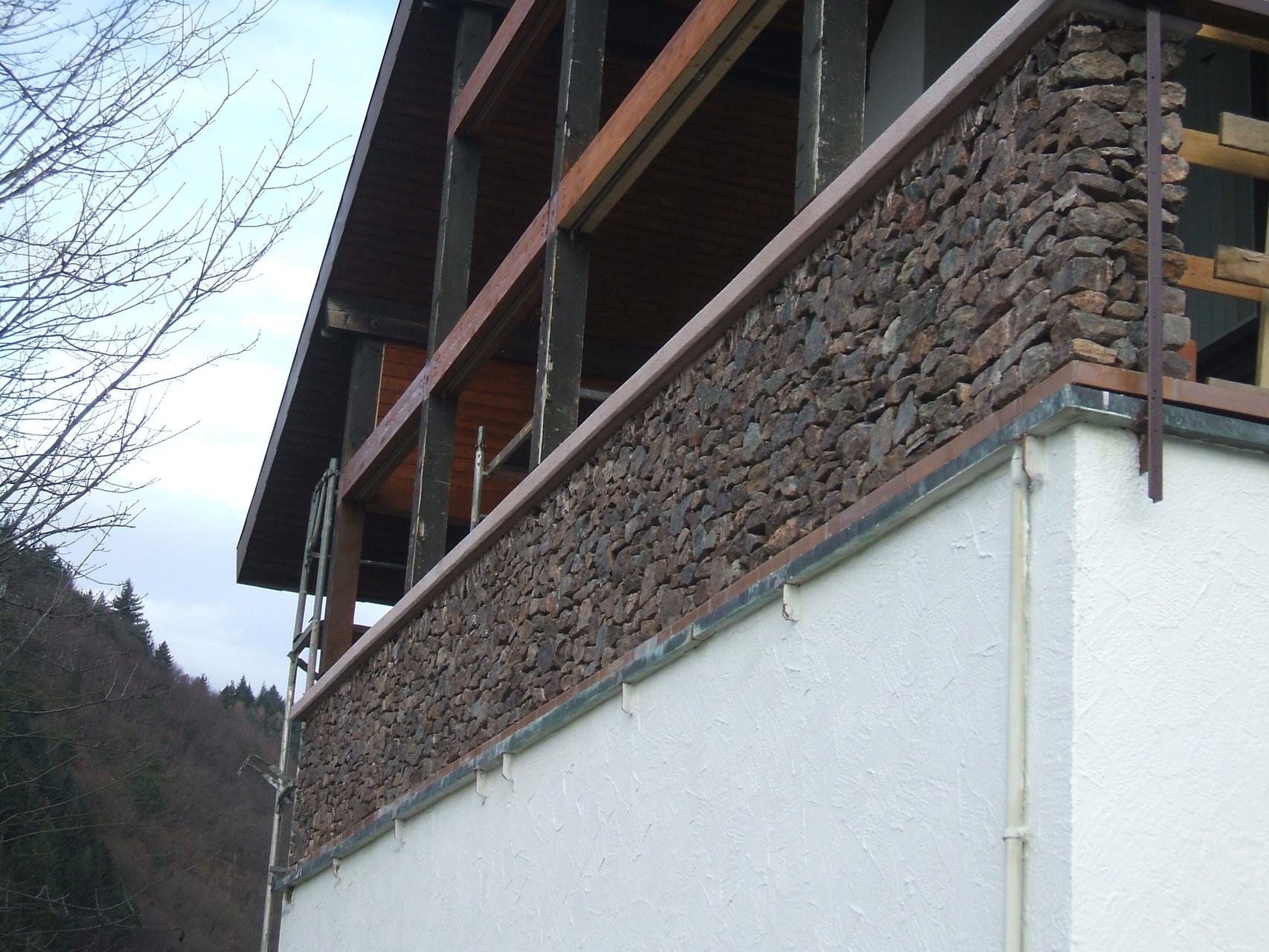 Gabionenmauerwerk