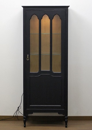 飾り棚 キュリオケース コレクションボード アンティーク 収納 棚 栃木県家具 インテリア