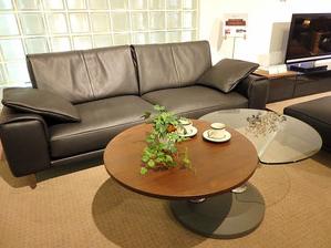 センターテーブル リビングテーブル ガラス ウォルナット ツインテーブル インテリア 家具 栃木県 東京デザインセンター