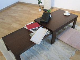 センターテーブル リビングテーブル 杉本家具 カルティオ 栃木県家具 インテリア 東京デザインセンター 座卓
