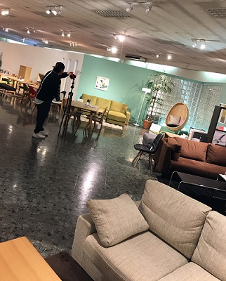 googleストリートビュー撮影風景 東京インテリア 東京デザインセンター 栃木県家具 鹿沼市 インテリア ショールーム 雑貨