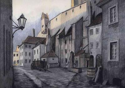 Görlitz - Hotherstraße unterhalb des Vogtshofes, um 1890