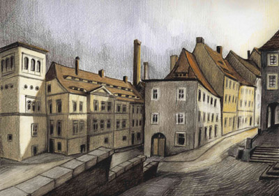 Görlitz, Neißstraße - Ecke Uferstraße, um 1900