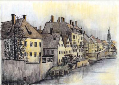 Görlitz (Zgorzelec) - Neißeufer unterhalb der Altstadtbrücke, um 1900