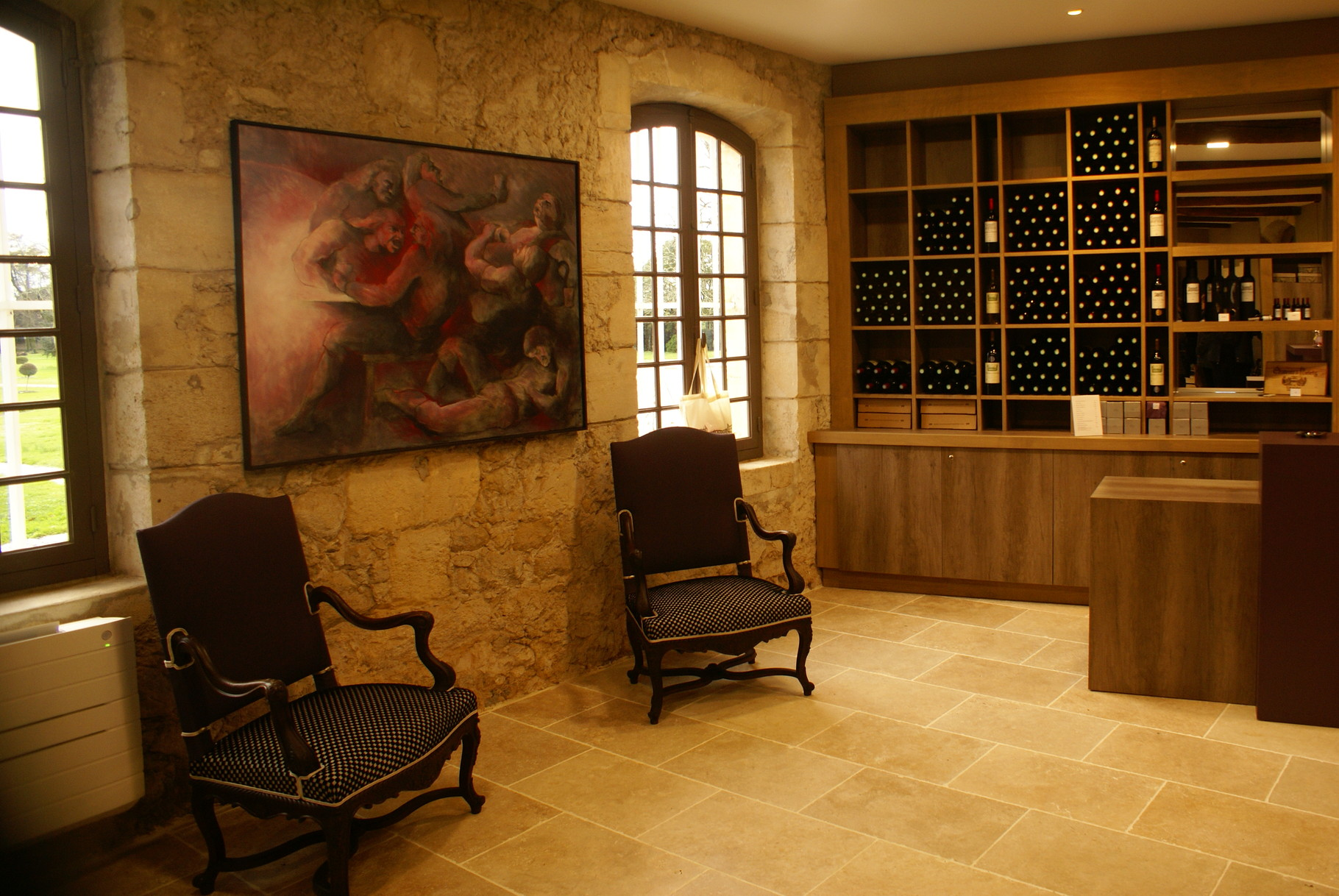 L'espace vente du Château de Portets