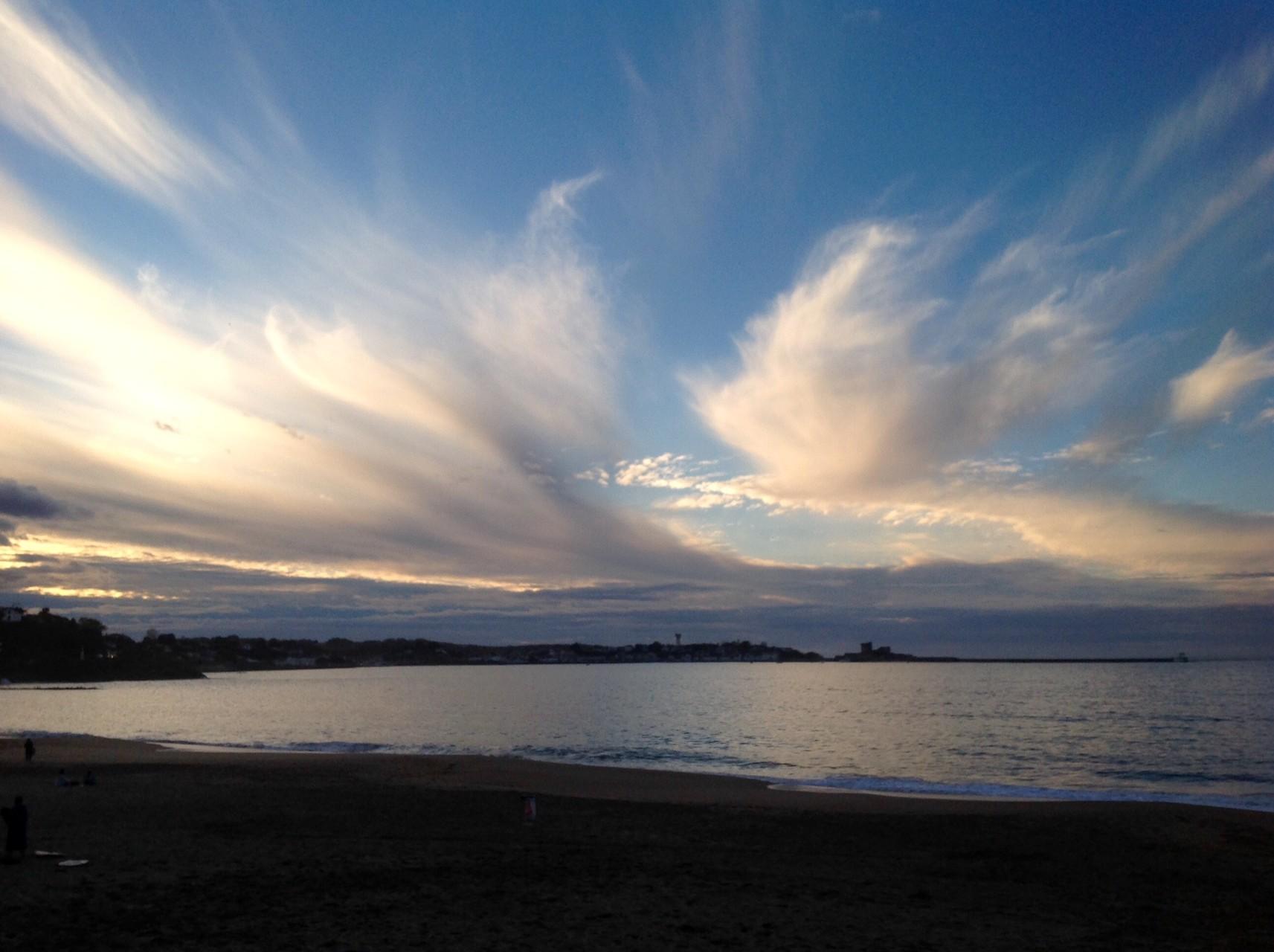 Coucher de soleil sur la baie de Sant Jean de Luz fin octobre