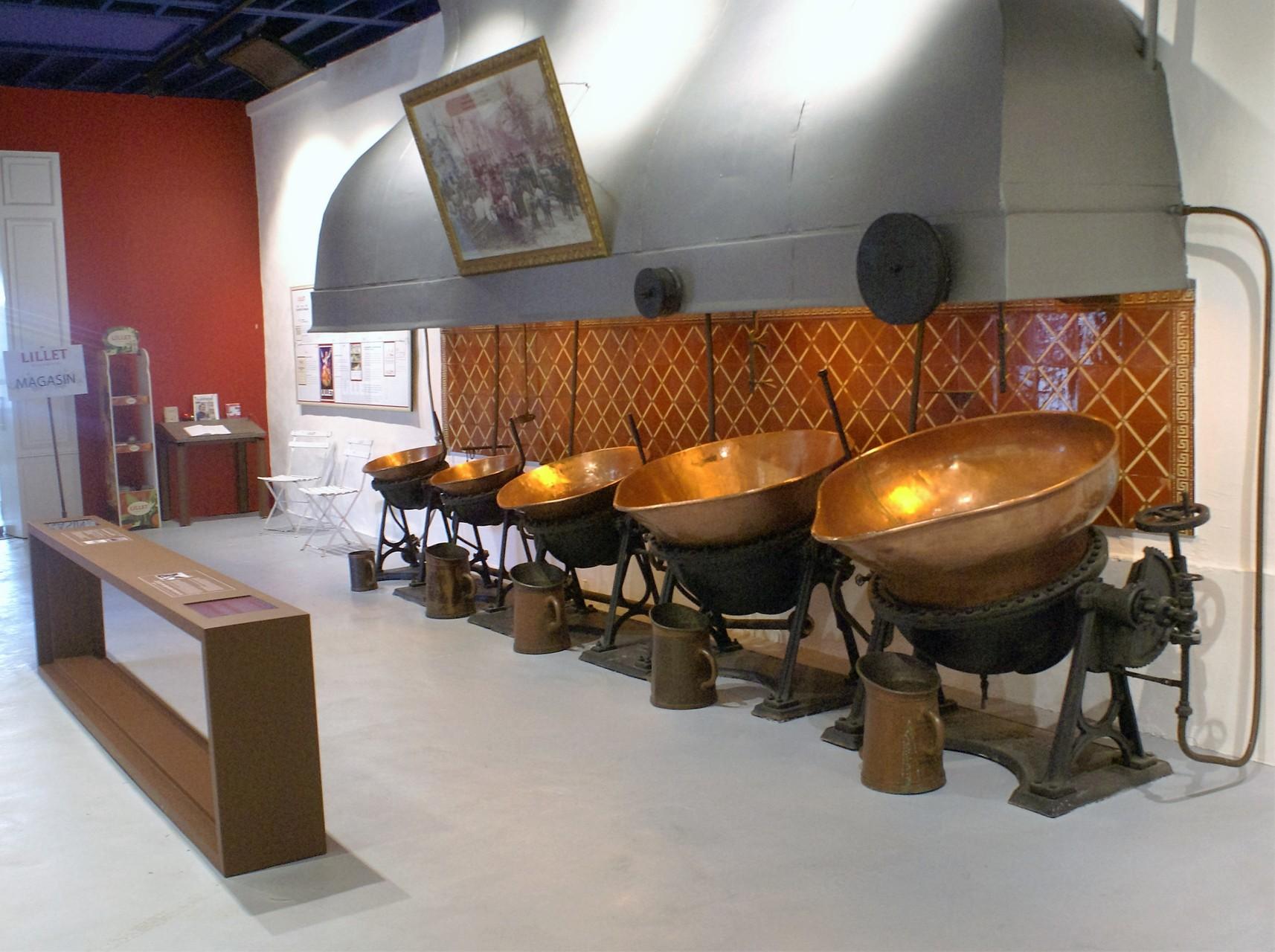 L'intérieur du musée Lillet
