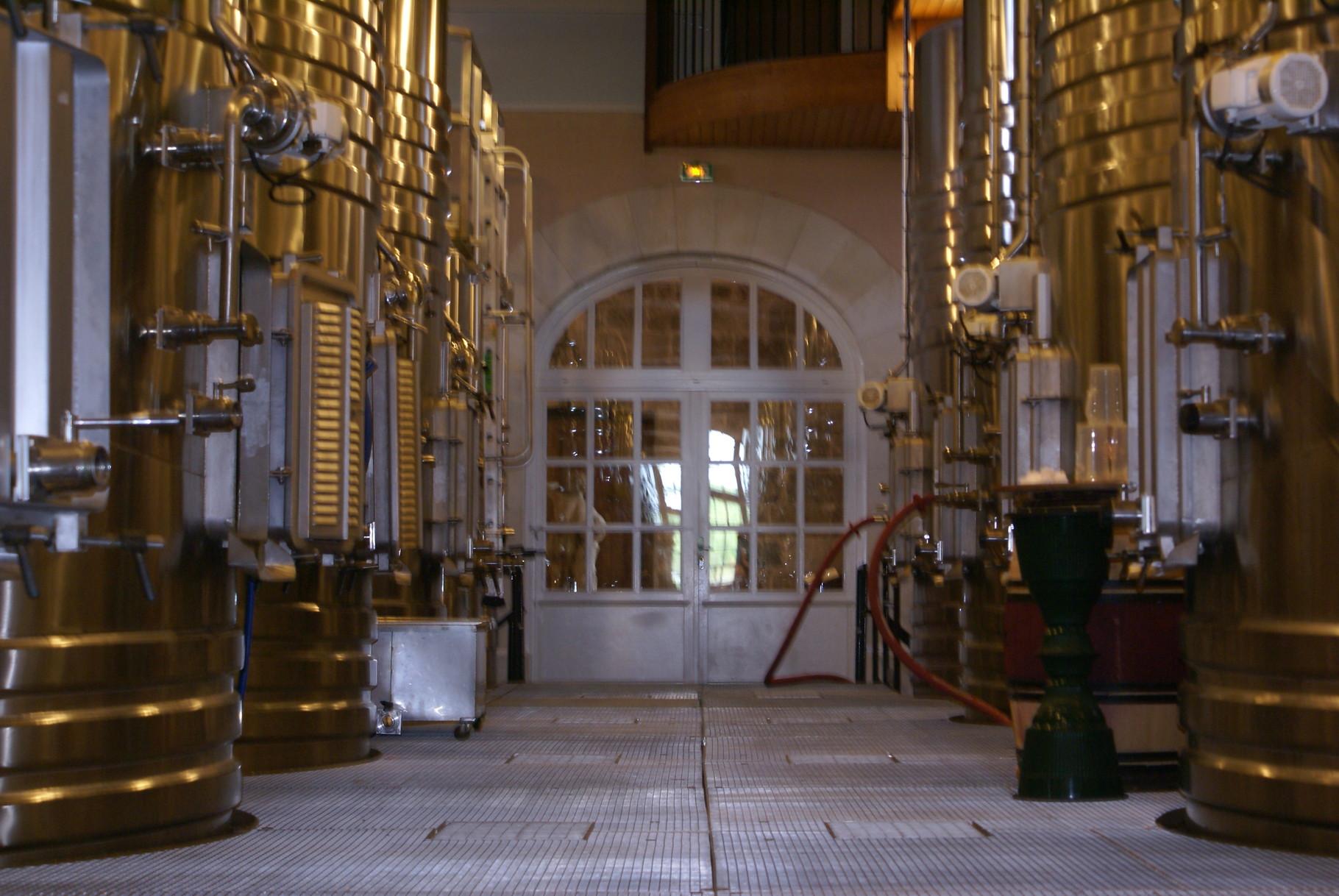 La salle de vinification du cru 2015 : le cuvier