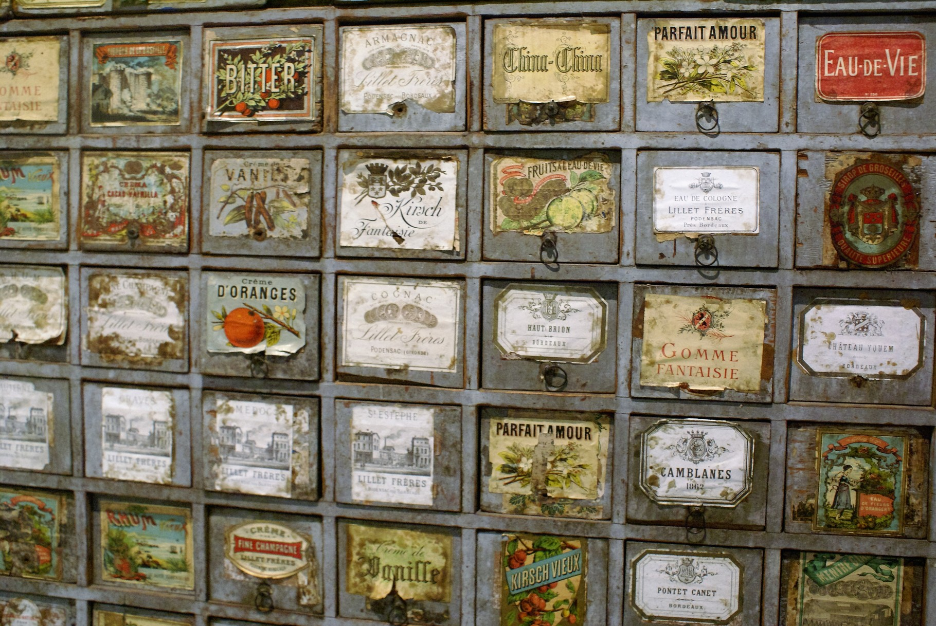 Détail de l'armoire (Meuble de fin du XIXeme siècle)