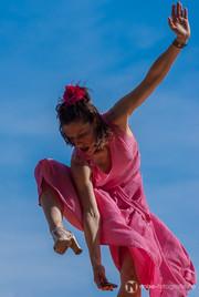 Eröffnung des Klang Containers auf dem erfurter Fischmarkt mit einer Tanzperformance von Tanja Matjas