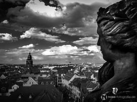 Blick vom Gothaer Rathausturm zur Margarethenkirche
