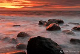 Küste Strand Sonnenuntergang in Heiligendamm