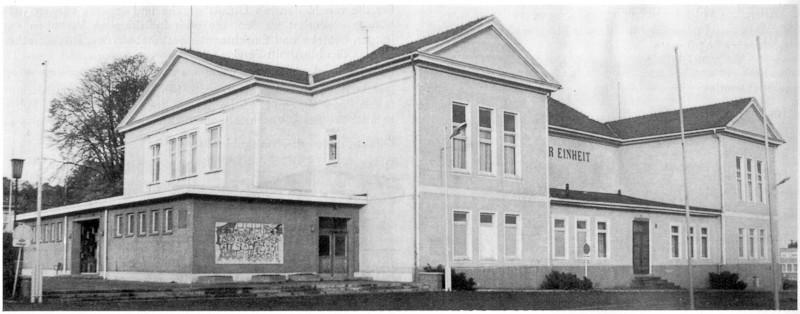 Gotha Stadthalle (Klubhaus der Einheit) 1981 - Quelle Broschüre Kulturelles Angebot - Kreis Gotha für die Jahre 1981-1985