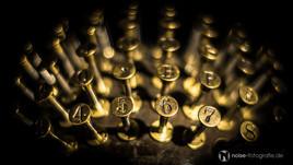 alte schreibmaschine im technischen museum dresden