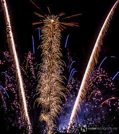 Höhenfeuerwerk beim Gothardusfest in Gotha - 2010