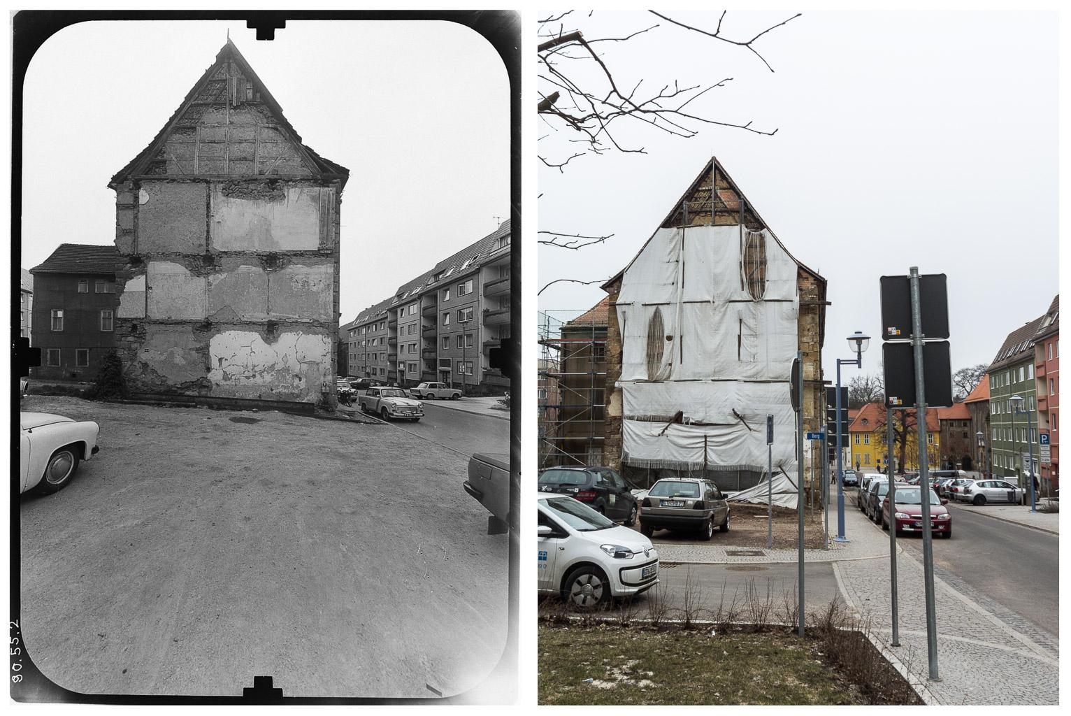 Gotha - Augustinerstrasse DDR 80'er Jahre / 2013 - DDR 80'er Jahre im Vergleich zu heute - Gotha Gestern und Heute