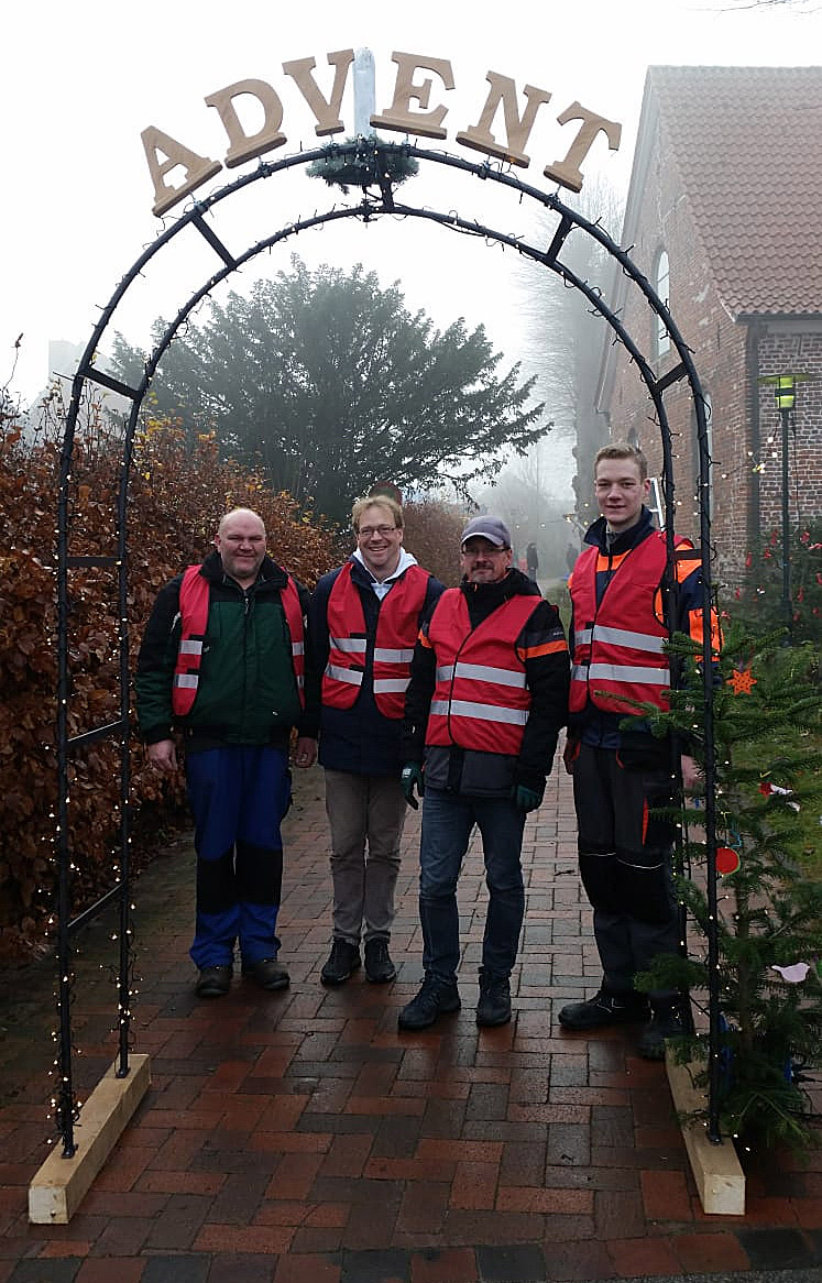 Das Team v.l. Udo Beckmann, Andreas Hiller, Markus Buck, Carsten Nutbohm, leider o. Bild Bernd Hartlef und Heinz Wüppen