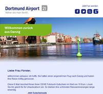 Dortmund Airport Facebook Promotion Adressgenerierung